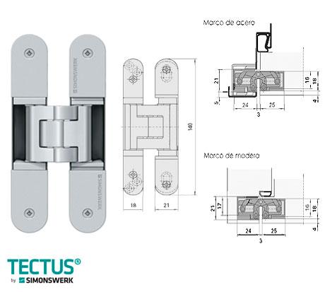 Bisagras para puertas pesadas materiales de construcci n - Bisagras puertas metalicas ...