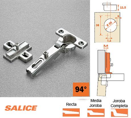 Bisagra 26 milimetros mini salice herrajes bralle - Amortiguador puerta cocina ...