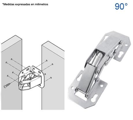 Bidimensionales herrajes bralle for Precio de puertas tipo cantina