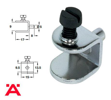 Mensulas y soporte a presion para cristal herrajes bralle for Herrajes para mamparas de cristal